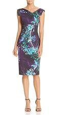 BLACK HALO Jackie O Floral Print Sheath Hollywood Party Dress 0 2 4 6 8 10