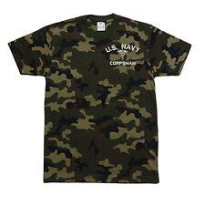 PROCLUB PRO CLUB CAMO Camouflage T-SHIRT T SHIRT U.S. Navy Corpsman