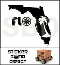 FLO Florida Decal Grown Native Style Sticker Sunshine State Flogrown New Orange
