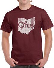 143 Ohio Script mens T-shirt state pride buckeye band football vintage retro new