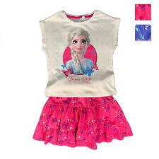 Maglietta con gonna Disney Frozen II T-shirt in cotone vestitino stampato 1827