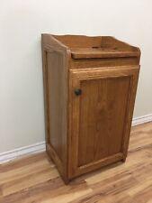Trash Can or Hamper Oak Bin with Medium Finish
