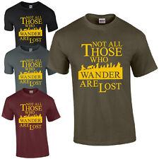 No todos los que vagan se pierden T-Shirt-LOTR Hobbit inspirado en la parte superior de Regalo para Hombre
