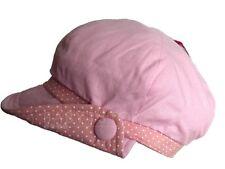 Niña Rosa Botón Sol Gorra / Sombrero De Verano Edad 2-4/4-6 O 7-10 AÑOS