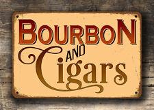 BOURBON SIGN, Bourbon and Cigars Sign, Man Cave Pub Decor, Bar Decor, Home Bar