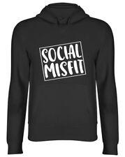 Social Misfit Funny Hooded Top Mens Womens Hoodie