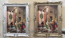 Cadre avec image Peintures Tapis VENDEUR Oriental 90x70cm baroque argent