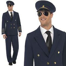 Navy Blue COMPAGNIA AEREA Pilota Capitano Costume Uniforme cappello da uomo fantasia abito Outfit M L