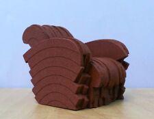 RED BEAVER Arm Chair + Ottoman 1:12,Miniature Dollhouse Furniture,Classic Design