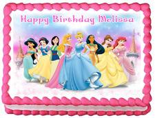 PRINCESS Birthday Image Edible Cake topper decoration