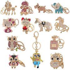 Key Ring Bag Charm Anime Character Rhinestone Crystal CZ Keyring Keychain Gift