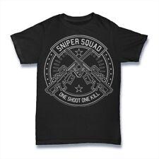 Sniper Squad T-Shirt. 100% Cotton Premium Tee NEW