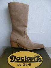 Dockers Cowboystiefel Westernstiefel Stiefel Motorradstiefel Boots beige Leder