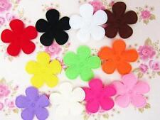 "60 Basic Solid Felt Flower 1.5"" Applique/bow/trim/Sewing/Daisy L58-Select Color"