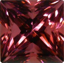Natural Fine Raspberry Rhodolite Garnet - Square Princess - Tanzania - AAA Grade