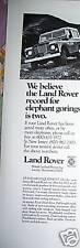 1978 Land Rover Car Elephant Gorings Ad