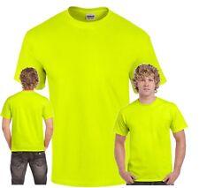 Signal Neon T-Shirt  Herren S - 5XL XXXXL Safety Shirt  Baustelle Sicherheit