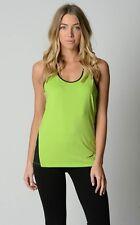 Ladies Urbane Activ Sports / Gym Singlet Top sizes 8 10 Colour Lime/Black