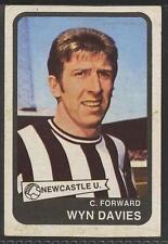 (ar90) ABC Gum, Footballers, Yellow #42, Wyn Davies, Newcastle Utd 1968 VG