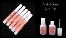 NAIL Art Glue 2g or 10g with brush False Nails Art Professional Salon Super Glue
