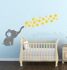 Elephant Blowing Floating Bubbles Wall Decal Sticker Art Vinyl Nursery Decor NEW