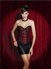 Sexy corsé bustier burlesque ceñidor lencería ropa interior de mujer rojo c106
