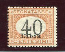 1930 libia Segnatasse 40 cent. arancio e nero nuovo gomma integra cert.