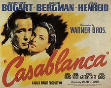 """CASABLANCA"" BOGART / BERGMAN Retro Movie Poster A1A2A3A4Sizes"