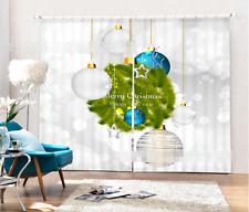 3D Weihnachten 8235 Blockade Foto Vorhang Druckvorhang Vorhänge Stoff Fenster DE