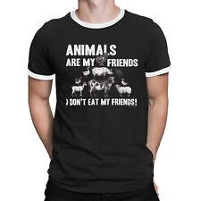 020c917fc I DONT EAT MY FRIENDS Mens Funny Vegan T-Shirt Vegetarian Animal Rights Top  Gift