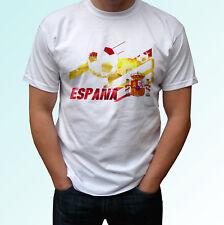 Bandera de España Camiseta Blanca España Camiseta Fútbol Etiqueta de la Copa del Mundo Top Camiseta todos los tamaños