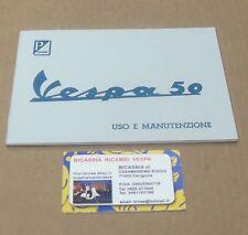 1381 LIBRETTO USO E MANUTENZIONE VESPA 50 R L N DAL 1963 AL 1971
