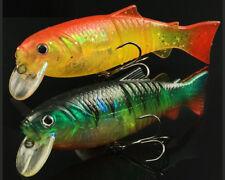 "Bass Swimbaits Fishing Lure Crankbaits Minnow Soft Tail Wobbler Pike 18g/4.13"""