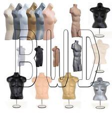 Female Male Child  Hanging Body Form Shop Plastic Mannequin Torso Bust