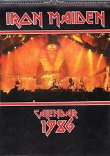 IRON MAIDEN 1986 OFFICIAL  VINTAGE  CALENDAR