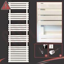 "500mm(w) x 1742mm(h) ""Solar"" White 600W Electric Pre-Filled Heated Towel Rail"