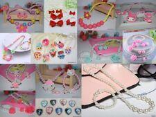 Kids jewellery girls jewelry party earrings necklace bracelet hair accessories