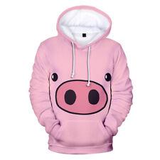 Cute pig Animal Long Sleeve Women Men 3D Print Hoodies Pullover Sweatshirts