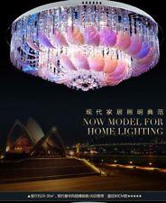 Remote Control LED Crystal Leaf Ceiling Light Home Pendant Lamp Chandelier Light