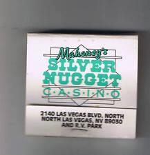 Silver Nugget Casino Green Vintage Matchbook North Las Vegas Nevada