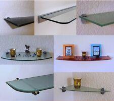 Glas Wand / Eck / Bad Regal CLARO Farben / Größen wählbar + Alu Board Halterung