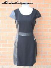 Yahada | Black Pleather Zipper Dress