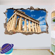 Grecia Acrópolis mitología destrozada Pared Adhesivo Decoración De Habitación 3D Calcomanía Mural YJ2