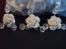 Bodas De Cristal Vintage 6 Rose Pelo Pins Bobby Perlas Nupcial Novia 30 Colores