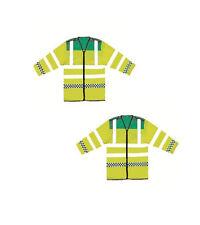 EMT Ambulance Paramedic Vest Hi Vis Reflective Long Sleeve Jacket Waistcoat New