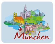 Mousepad München Mauspad Bayern Deutschland Urlaub Rathaus Olympia Oktoberfest