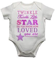 Twinkle Twinkle Little Star Ragazze Divertenti BELLISSIMO CARINO BABY GROW BODY CANOTTA