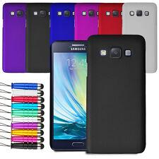 Per Samsung Galaxy A3 2014 Custodia rigida copertura posteriore + Schermo Pellicola + Stylus