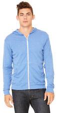 Bella + Canvas Men's Lightweight Long Sleeves Full Zip Winter Hoodie. C3939