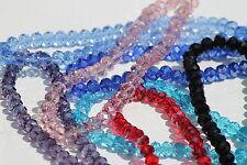 Facetas Rondelle Cristales Cuentas Varios colores y tamaños